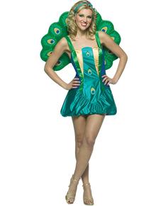 Pfauen Kostüm echt Classic für Frauen