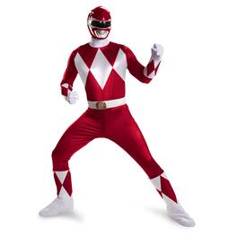 Mighty Morphin Power Ranger Kostüm prestige rot für Herren