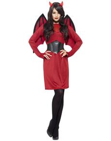 Kleine Teufelin Kostüm für Damen classic